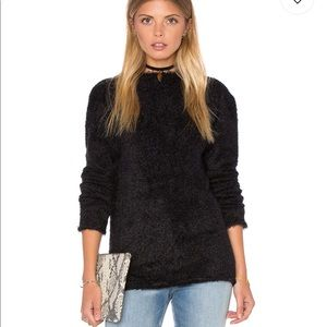Anine Bing Fuzzy Open back sweater